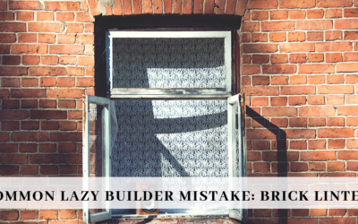 Common Lazy Builder Mistake: Brick Lintels