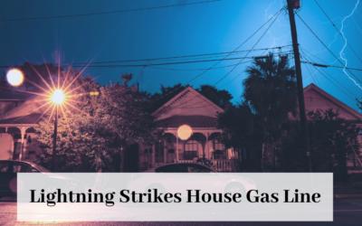 Lightning Strike Causes Yard Fire